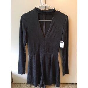 Charlotte Russe Other - Suede Romper
